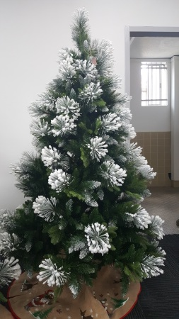 white snow flocked artificial christmas tree 18m additional images