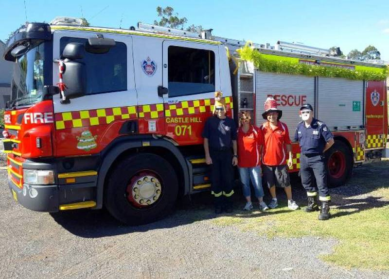Castle Hill Firies Getting Into Christmas Spirit