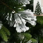 White snow flocked Christmas tree