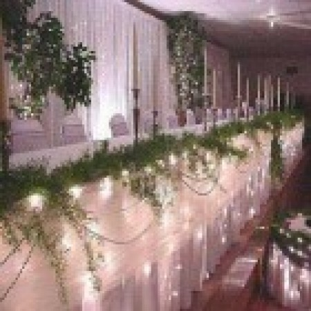 180L White LED Bridal Table Curtain Light 7.2m x 1m