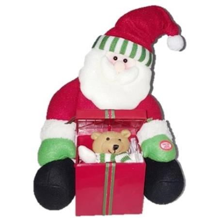 25cm Musical Santa with Surprise Pop Up Gift box Christmas Decoration