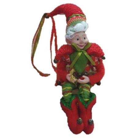 Plush 30cm Red and Green Elf Christmas Decoration