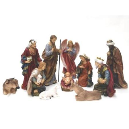 200mm Nativity Set - Polyresin 11 Piece