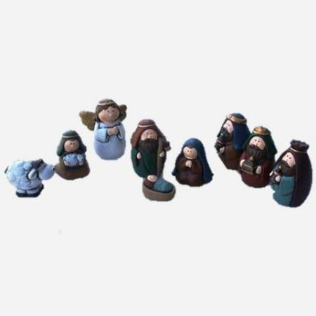 50mm Children`s Nativity Set - Polyresin 9 pieces