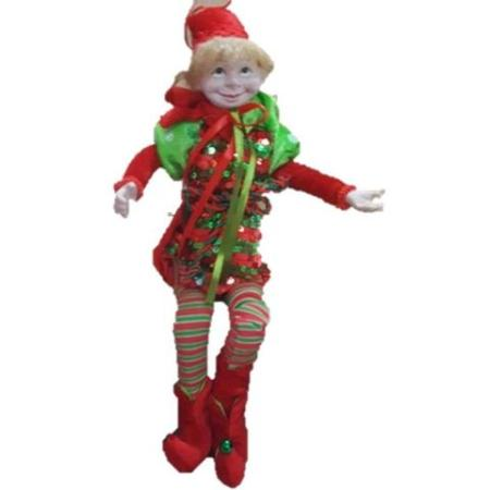 Plush 45cm Red and Green Elf Christmas Decoration
