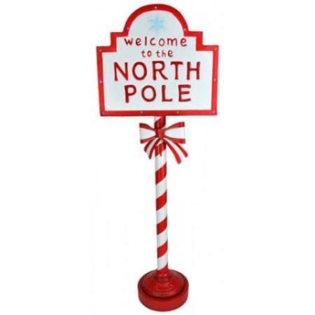 North Pole Light Up Sign