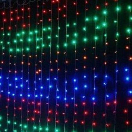 400L LED Multi colour Waterfall Curtain Lights 2.4m x 2.4m
