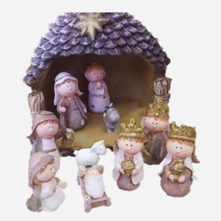 Children`s Nativity including Stable