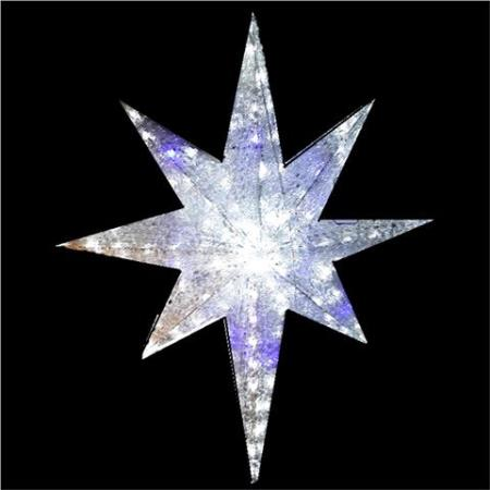 74cm Blue and White North Star Acrylic Christmas Light