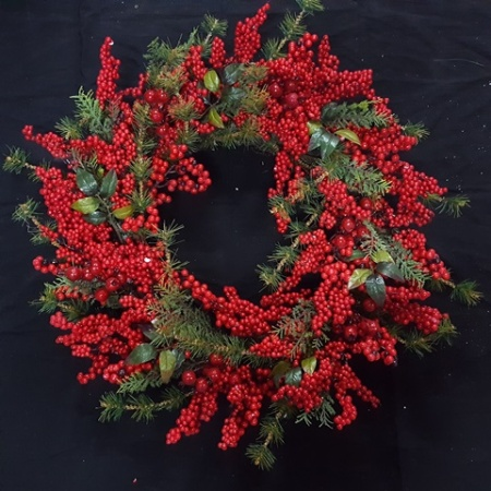 76cm Red Berry Christmas Wreath