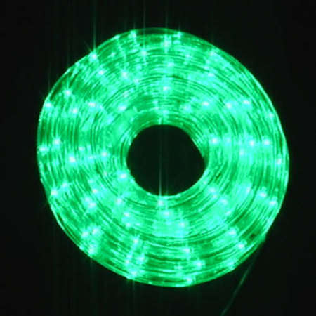 240V LED Rope Light With 8 function controller 10M Green