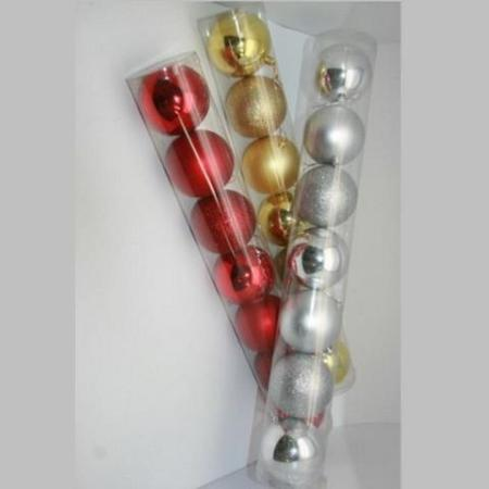 80mm Christmas Baubles Tree Decorations Packet 7