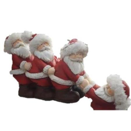 34cm 4 Pulling Santa Christmas Decoration