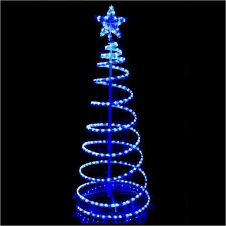 Outdoor led christmas lights motifs and silhouettes outdoor led blue and white rope light 3d spiral christmas tree 15 metres mozeypictures Images