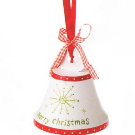10cm Metal Hanging Bell Christmas Decoration