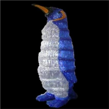 Outdoor 63cm Acrylic Penguin with 160 white LED Christmas Light