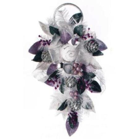 58cm Frosted Lavender Floral Spray