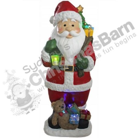 LED 100cm Outdoor Ceramic Santa Christmas Decoration with Lights