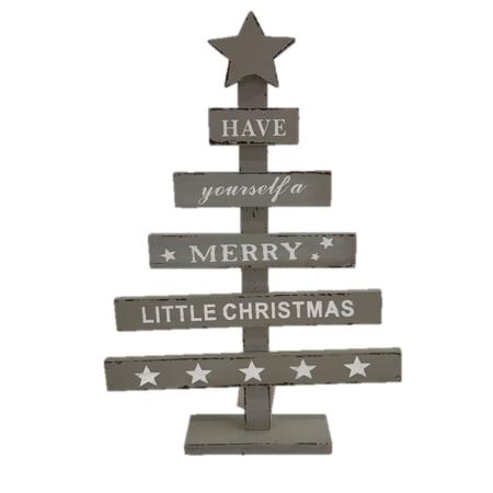 We Wish You a Merry Christmas Wood Christmas Tree Decoration