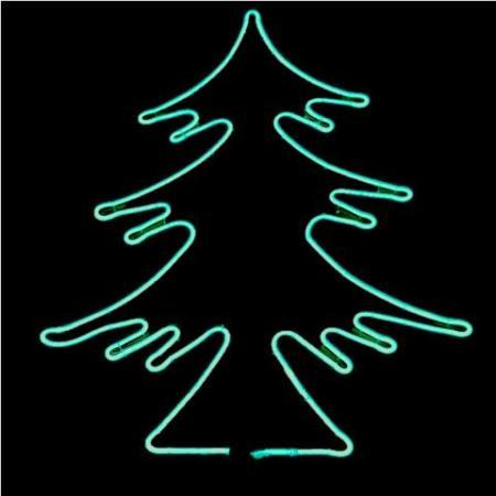 Super Bright Double Sided Neon Strip Light 81cm Green Christmas Tree 120 Leds Per Metre