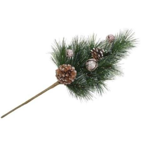 45cm Thick Bushy Classic Forest Pine Pick with Pine Cones Christmas decoration