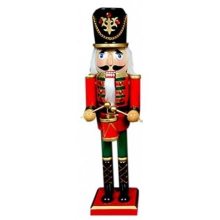 38cm timber drummer nutcracker christmas decoration