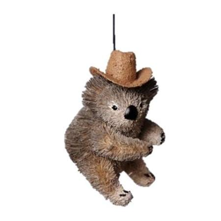 7cm Koala with Akubra Hat Hanging Christmas Tree Ornament