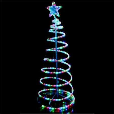 sc 1 st  Sydneyu0027s Christmas Barn & Outdoor LED Multi Colour Rope Light 3D Spiral Christmas Tree 1.5 metres
