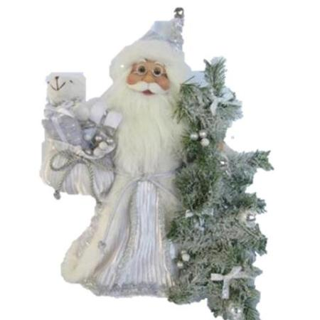 40cm Standing White Traditional Santa Christmas Decoration