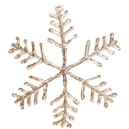 Light Up 300mm Acrylic Clear Snowflake Christmas Tree Ornament