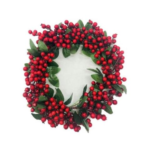 35cm Red Berry Wreath Christmas Decoration