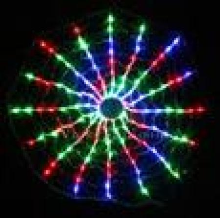 90cm 192 LED Red Green Blue Spider Net Light with Spiral function