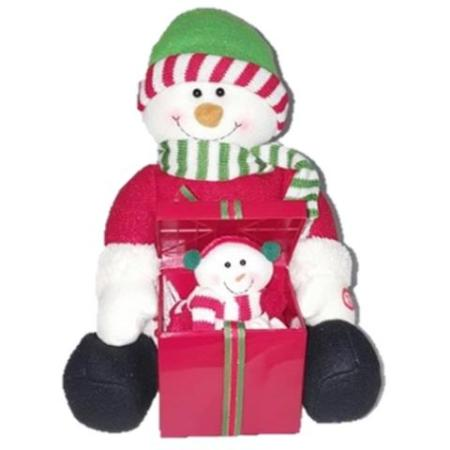 25cm Musical Snowman with Surprise Pop Up Gift box Christmas Decoration