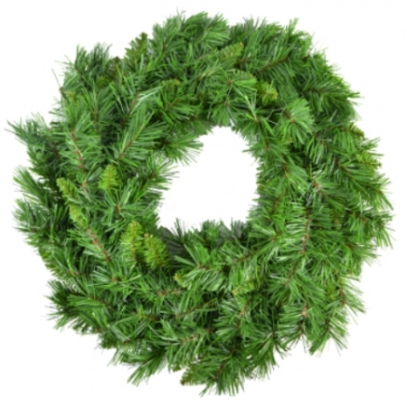 60cm Thick Bushy Mixed Pine Wreath Christmas decoration