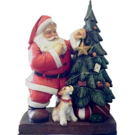 Led Ceramic Santa Christmas Tree Dog Christmas Decoration