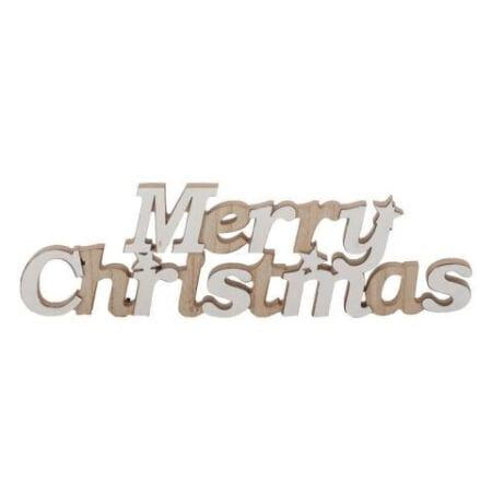Wood Red Merry Christmas Sign Decoration