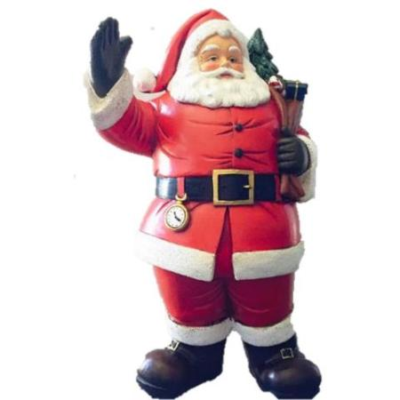 Ceramic 20cm Santa Holding Gift Sack Christmas Decoration
