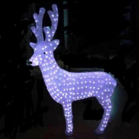 - 100cm Reindeer Buck LED Acrylic Christmas Lights