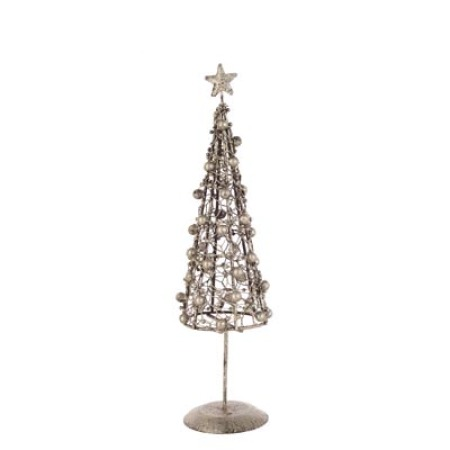 48cm Argent Twisted Christmas Tree Table decoration