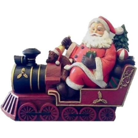 Ceramic Santa on Train Christmas Decoration Ornament