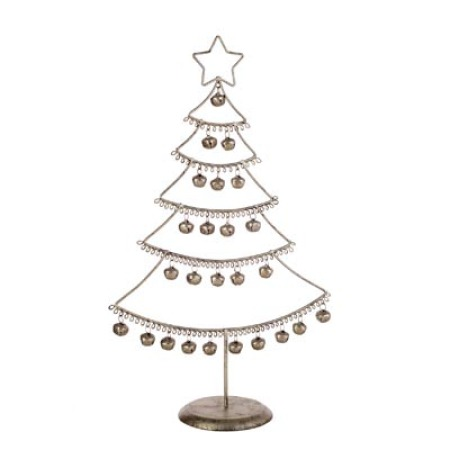 37cm Argent Bell Christmas Tree Table decoration