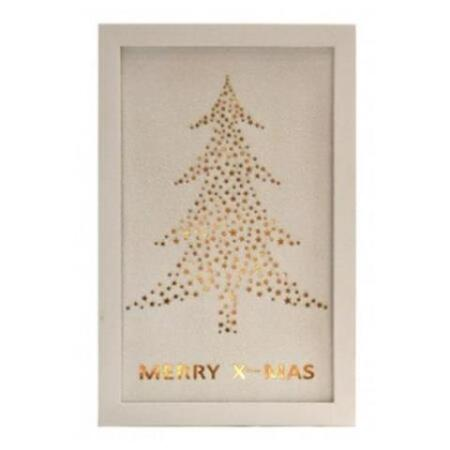 Led Merry Christmas Timber Frame Christmas Decoration