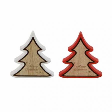 Timber Christmas Tree Shape Merry Christmas Decoration