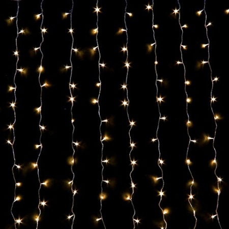 600L LED Warm White Connectable Wedding Curtain Lights 3m x 3m drop.