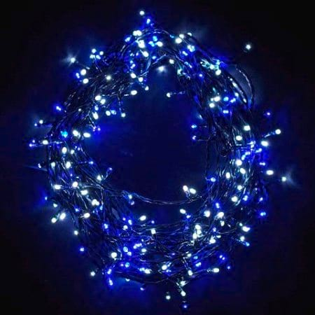 480L 38m Blue and White Connectable LED Fairy Light String With 8 Functions and Timer