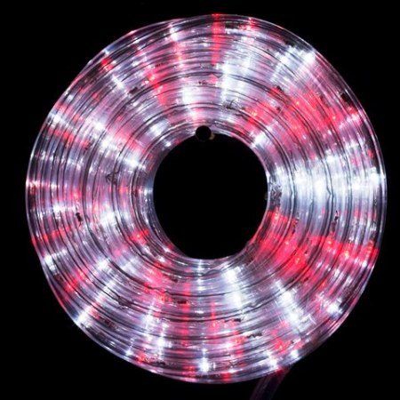 36v Low Voltage Led Connectable Rope Light 10m Red & White