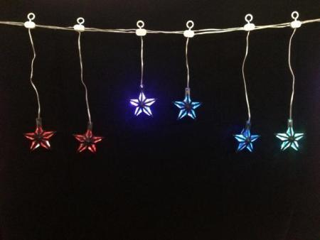 30 LED Auto Colour Changing Star Icicle Party lights 7.5m