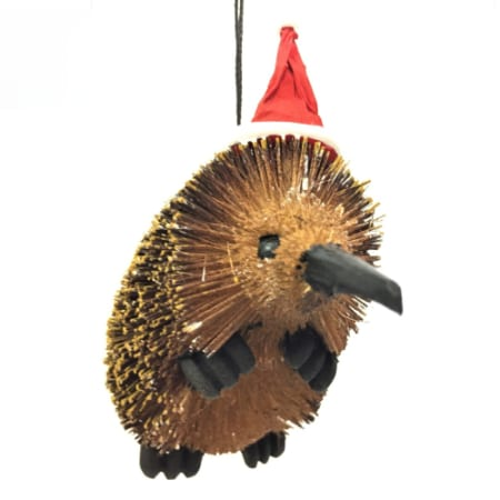 7cm Echidna with Christmas Hat Hanging Christmas Tree Ornament