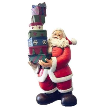 Ceramic Santa Balancing Gifts Christmas Decoration