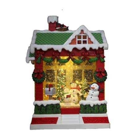 Spinning Water LED Snowman Christmas House Decoration